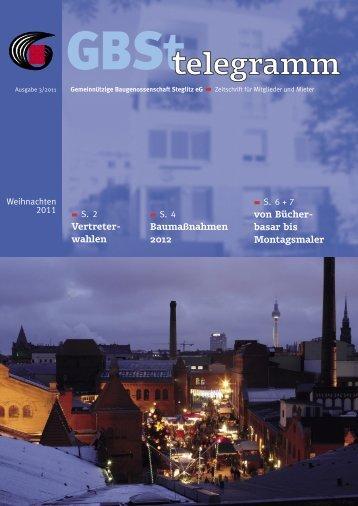 GBSt Telegramm 2011-3 - Gemeinnützige Baugenossenschaft ...