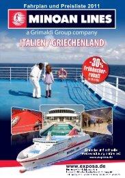 Minoan Lines - Fähren Italien Griechenland 2011 - Fahrplan - Preise ...