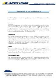 PRESS RELEASE : Q1 2009 FINANCIAL RESULTS Anek Lines SA ...