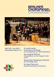 Chorspiegel 161 - Chorverband Berlin eV
