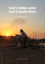 Coal's hidden water cost to South Africa - Greenpeace