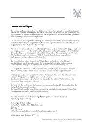 Literatur aus der R Literatur aus der Region - Regierungspräsidium ...