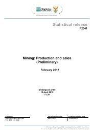 February 2012 - Statistics South Africa