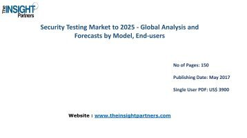 Security Testing Market Report 2016 Trends and 2025 Forecasts |The Insight Partners