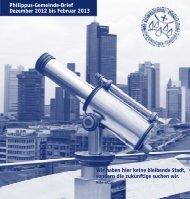 Philippus-Gemeinde-Brief Dezember 2012 bis Februar 2013 Wir ...