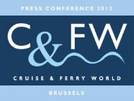 PRESS CONFERENCE 2012 BRUSSELS - Cruise & Ferry World