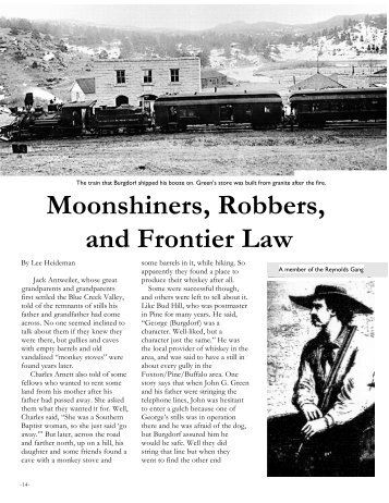 Moonshiners Robbers and Frontier Law
