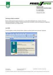 Anleitung Excel Versandanzeige