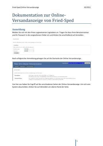 Anleitung Web Versandanzeige