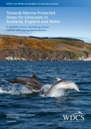 Towards Marine Protected Areas for Cetaceans in Scotland ...