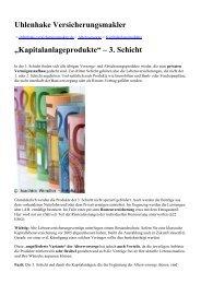 """Uhlenhake Versicherungsmakler """"Kapitalanlageprodukte"""" – 3. Schicht"""