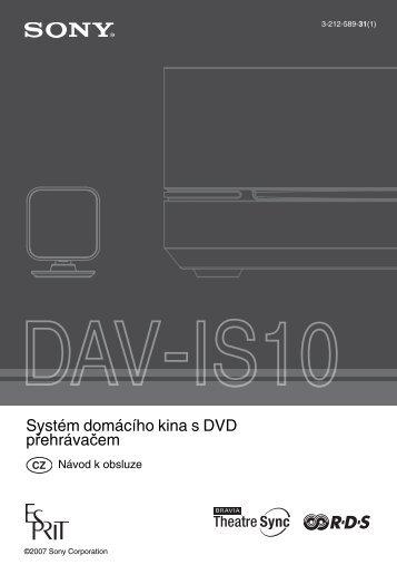 Sony DAV-IS10 - DAV-IS10 Istruzioni per l'uso Ceco