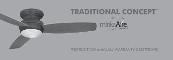 instruction manual warranty certificate traditional ... - Minka Group