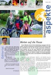 Ausgabe 10/2006 - Aspekte Steinhausen