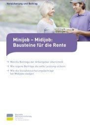 Minijob - Midijob: Bausteine für die Rente - Laufstall