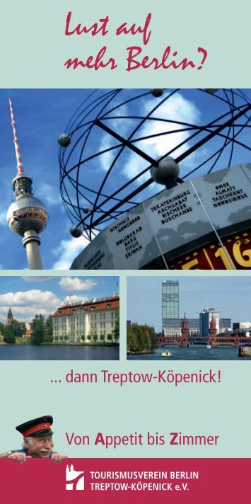 Lust auf mehr Berlin? - Tourismusverein Berlin Treptow-Köpenick