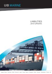 Marine Liabilities - Early 2010 Comment - uib group