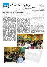 Ausgabe Nr. 20 [PDF, 1.00 MB] - Gemeinde Meisterschwanden