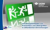 UKBW-Handlungsleitfaden zur Prävention von Übergriffen in ...