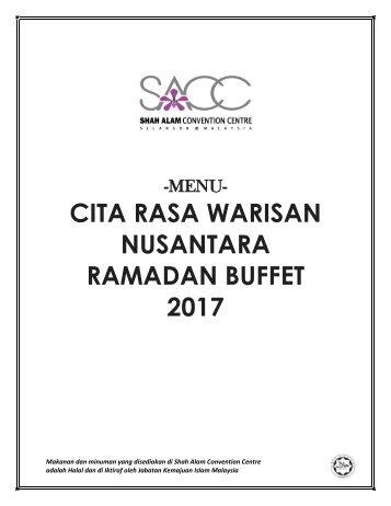 RAMADAN BUFFET CITARASA WARISAN NUSANTARA (MENU 2017)