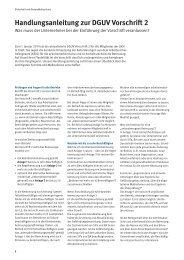 Handlungsanleitung zur DGUV Vorschrift 2
