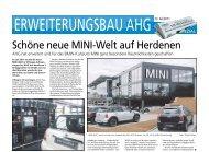 Schöne neue MINI-Welt auf Herdenen - Haller Industriebau GmbH