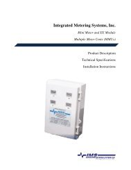 Integrated Metering Systems, Inc. Mini Meter and EE ... - Leviton.com