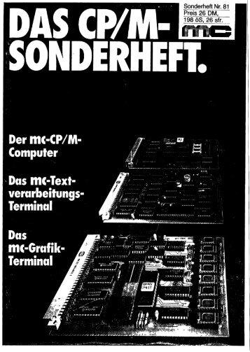 Der mc-CP/M-Computer - NDR - Klein Computer