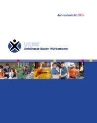 Jahresbericht 2005 - Unfallkasse Baden-Württemberg