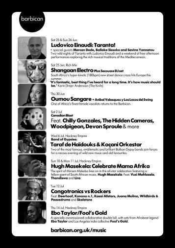 Ludovico Einaudi: Taranta! Feat. Chilly Gonzales, The ... - Barbican
