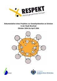 Dokumentation eines Projektes zur Gewaltprävention an Schulen in ...