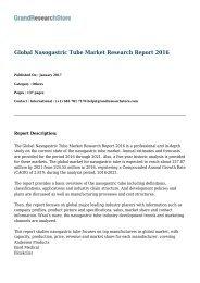 Global Nasogastric Tube Market Research Report 2016