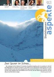 Ausgabe 02/2010 (Grösse 2.8 MB) - Aspekte Steinhausen