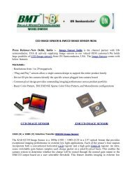 CCD IMAGE SENSOR AND EMCCD IMAGE SENSOR INDIA