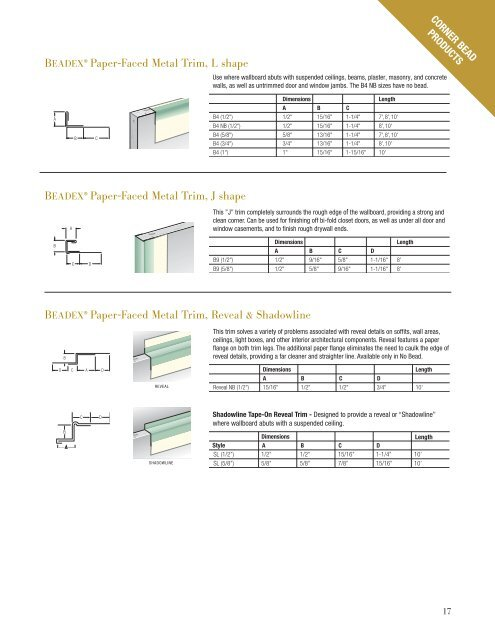 Beadex ® Paper-Faced Met