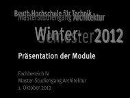 Hier klicken um Datei zu laden - Architektur - Beuth Hochschule für ...