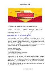 Juniper JN0-102 JNCIA-Junos exam dumps