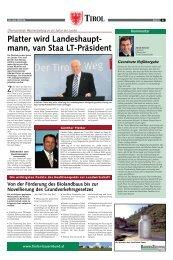mann, van Staa LT-Präsident - Tiroler Bauernbund