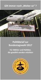 BBI-Politikbrief zur Bundestagswahl 2017 im Flyerformat (Stand Mai 2017)