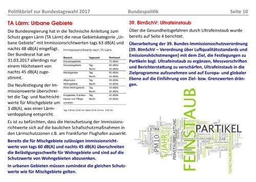BBI-Politikbrief zur Bundestagswahl 2017 (Stand 06.05.2017)