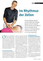 Im Rhythmus der Zellen Die Matrix-Rhythmus-Therapie ... - Natürlich