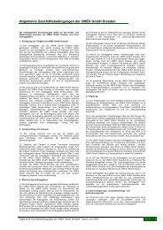 Aktuelle AGB von UMEX - UMEX GmbH Dresden