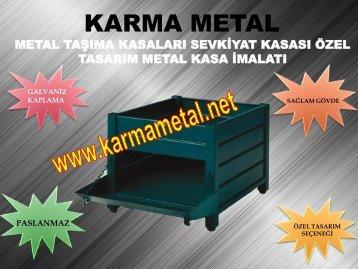 Paslanmaz galvaniz kaplamali endustri insaat sanayi metal tasima kasa kasasi fiyati KARMA METAL