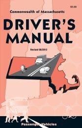 Commonwealth of Massachusetts Driver's Manual - Mass.Gov