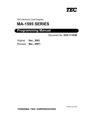 Tec ma 1535 program manual.