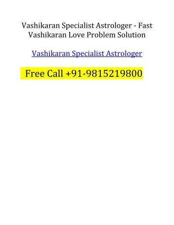 Fast Vashikaran Specialist Astrologer Karan Sharma
