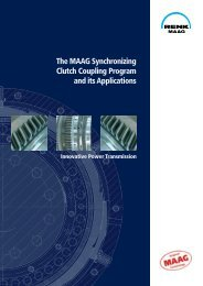 The MAAG Synchronizing Clutch Coupling Program and its ...