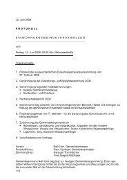 Protokoll EG 12.06.2009 - Seengen