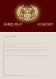 Gussöfen Antiquariat Schillerofen - Antike Gussöfen Koch