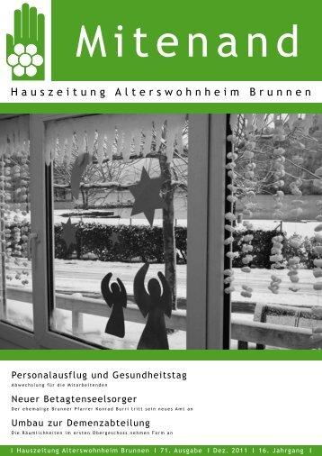 Hauszeitung Ausgabe Nr. 71 vom Dezember 2011 - Brunnen